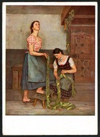D3916 - Sepp Hilz - Bäuerliche Triologie - Die Mägde  - Haus Der Deutschen Kunst München - Verlag Heinrich Hoffmann - Autres Illustrateurs