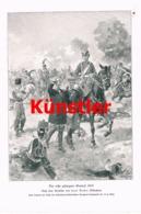 1727 Carl Becker Gefangener General 1870 Dragoner Kunstblatt 1905 !! - Dokumente