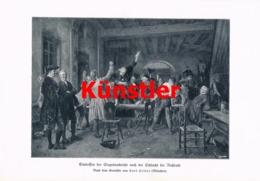 1728 Carl Seiler Siegesnachricht Schlacht Roßbach Kunstblatt 1905 !! - Dokumente