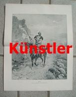 1729 Ajdukiewiez Kurde Kurdistan 27x34 Cm Kunstblatt 1902 !! - Dokumente