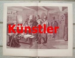 1730 Thöny Blücher Bei Caub Kaub 1813 35x26 Cm Kunstblatt 1898 !! - Dokumente