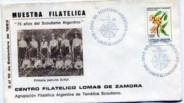 75 AÑOS DE SCOUTISMO ARGENTINO CENTRO FILATELICO LOMAS DE ZAMORA AGRUPACION FILATELICA DE TEMATICA SCOUTISMO - NTVG. - Padvinderij