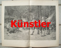 1731 Jordan Kriegsrat Andreas Hofer 35x26 Cm Druck  1897 !! - Dokumente