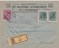 Env Recommandé Censurée T.P. Ob Wien .. VII 1919 Env Pour Paris - 1918-1945 1ère République