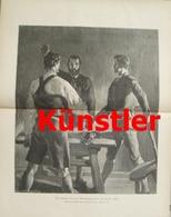 1732 Egger-Lienz Schwur Tirol 1809 Andreas Hofer 27x35 Cm Druck 1902 !! - Dokumente