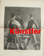 1732 Egger-Lienz Schwur Tirol 1809 Andreas Hofer 27x35 Cm Druck 1902 !! - Documents