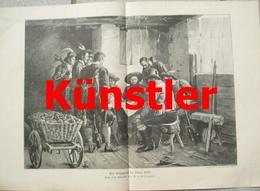 1734 Defregger Kriegsrat Andreas Hofer 1809 42x29 Cm Druck  1898 !! - Documents