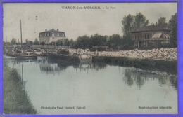 Carte Postale 88. Thaon-les-Vosges Péniches  Très Beau Plan - Thaon Les Vosges