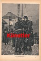 1736 An Der Deutsch-russischen Grenze Soldaten Druck 1888 !! - Dokumente