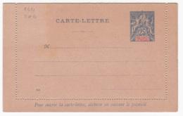 Ets Oceanie Entier Postal  Carte Lettre  CL4 25c Bleu - Lettres & Documents