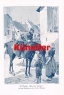 1738 Carl Becker Im Manöver Reiter Soldat Druck 1905 !! - Dokumente