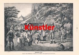 1741-2 Kraus Wallenstein Lager  Soldaten Druck 1898 !! - Dokumente