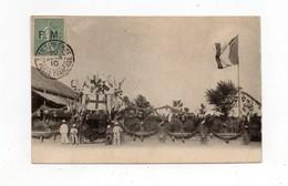 !!! CHINE, CPA AVEC TIMBRE DE FRANCHISE CACHET TIEN-TSIN CHINE POSTE FRANCAISE DU 22/2/1910 - Lettres & Documents