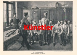 1742 Karl Müller Instruktionsstunde Soldaten Druck 1898 !! - Documents