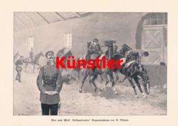 1743 Plinzner Reithausfreunden Reiter Soldaten Druck 1898 !! - Dokumente