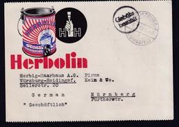 DR. Reklame-Karte, Herebolin, Herbig-Haarhaus A.G., Würzburg - Duitsland