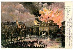 Stuttgart Brand Der Hoftheaters 1902 - Ak Nach Chemnitz - Stuttgart