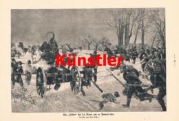 1745 Karl Becker Elfer Bei Le Mans 1871 Soldaten Druck 1905 !! - Documents