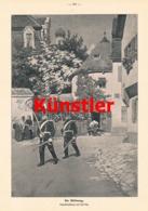 1746 Paul Hey Die Ablösung Ortsbild Soldaten Druck 1905 !! - Documents