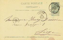 Entier Postal Armoiries LOOZ 1900 Vers LIEGE - Origine TROCKART - Entiers Postaux