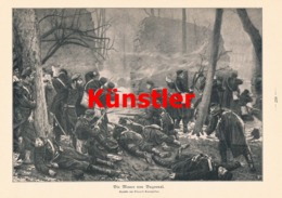 1747 Kaempffer Mauer Von Buzenval Soldaten Druck 1911 !! - Dokumente