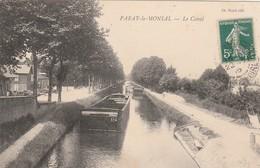 CPA:PARAY LE MONIAL (71) PÉNICHE CANAL..ÉCRITE - Paray Le Monial