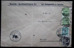 Dezemberbrief Burscheid Opladen Portogerecht Vom 11.12.23 Mit 328 Und Mit Pfennig Währung - Deutschland