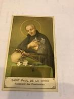 Saint Paul De La Croix - Devotion Images