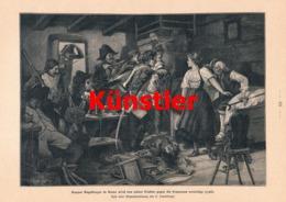 1753 Leuenberger Engelberger Stans Tirol Andreas Hofer Soldaten Druck 1901 !! - Dokumente