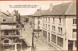 CP 54- BADONVILLER- La Grande Rue Prise De La Mairie- Voyagée 1937  -Scans Recto Verso-Paypal Sans Frais - Saint Hilaire Du Harcouet