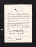 Château De DREE Alexandre Prince De CROÿ 24 Ans 1929 Enterré HAVRE Mons Château Du ROEULX MERODE LA ROCHEFOUCAULD - Obituary Notices