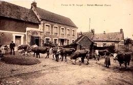 27 - BELLE CPA VERNON ST MARCEL - FERME DE Mr GOUPIL - ADHERENT A LA SCVC - VOIR PHOTO ET NOTICE - ETAT EXC - - Francia
