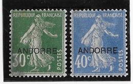 Andorre N°10/11 - Neuf * Avec Charnière - B/TB - Neufs