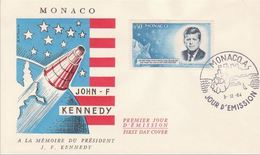 FDC Monaco1964 - Président J.F.Kennedy - FDC