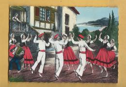 C.P.M. Dessin - BASQUES - Le Fandango - Danses