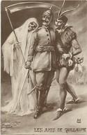 Ref Y509-guerre 1914-18-satirique -caricature Guillaume 2 Le Kaiser -illustrateur-amis De Guillaume -la Mort Et Mephisto - Guerre 1914-18