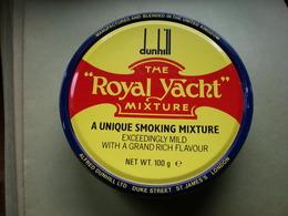 Old Tin Box Full Box Dunhil The Royal Yacht Mixture  Alfred Dunhil LTD London - Cajas Para Tabaco (vacios)