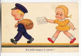 CPA - Illustrateur Vera - J'ai Failli Manquer Le Courrier !  :  Achat Immédiat - ( Cd030 ) - Illustrateurs & Photographes