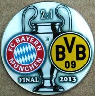 Pin Champions League UEFA Final 2013 Bayern Munchen Vs Borussia Dortmund - Fútbol