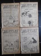 """""""Le Sifflet"""" Rare Hebdo Satirique Anti-maçonnique Anti-Libéral...4 Numéros Décembre 1908 / Caricatures Politique Belge - Journaux - Quotidiens"""