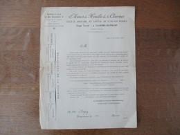 CALONNE-RICOUART MINES DE HOUILLE DE LA CLARENCE COURRIER DU 26 JUILLET 1897 COEVOET-RENOUARD PRESIDENT DU CONSEIL D'ADM - 1800 – 1899