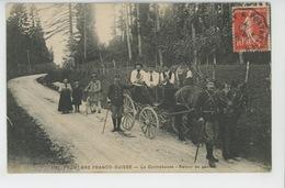 METIERS - DOUANIERS - FRONTIERE FRANCO SUISSE - La Contrebande - Retour Au Poste (postée à PONTARLIER En 1909 ) - Métiers