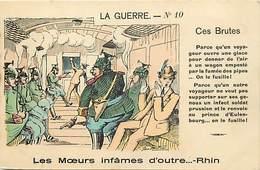 Ref Y499-guerre 1914-18-satirique -caricature Anti Allemande -illustrateurs -illustrateur -moeurs Infames Outre Rhin  - - Guerre 1914-18