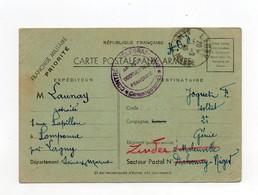 !!! CARTE EN FRANCHISE MILITAIRE DE 1939 POUR LE NIGER AVEC CACHET DE CENSURE DE L'AOF - Guerre De 1939-45