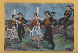 C.P.M. Dessin - Bretagne - Danse Bigoudène - Danses