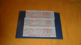 LOT 3 BANDES ANCIENNES DE 1936...HARR & THOMSON WOOL BRADFORD...YORKS ..CACHET ET TIMBRE EN ROUGE... - Postmark Collection