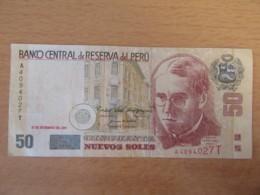 Pérou / Peru - Billet 50 (Cincuenta) Nuevos Soles 2001 - Pérou