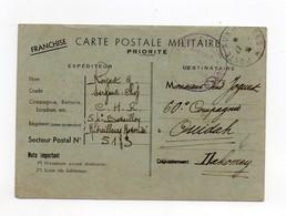 !!! CARTE EN FRANCHISE MILITAIRE DE 1939 POUR LE DAHOMEY AVEC CACHET DE CENSURE DE L'AOF - Guerre De 1939-45