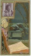 PUBLICITE   GATEAUX LU   LEFEVRE UTILE  JEANNE GRANIER  CARTE EN RELIEF GAUFREE   DOS BLANC   FORMAT  17 X 9 Cm - Publicidad
