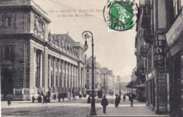 GENEVE  -   Hotel Des Postes Et Rue Du Mont Blanc - GE Genève